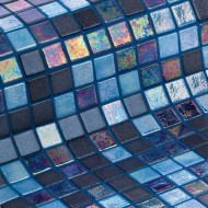 COCKTAIL Glass mosaic 25x25 ( BLUE LAGOON )