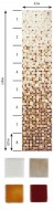FADING OUTS BROWN Glass mosaic 2,5x2,5 section 6 (bal=2m2) ( BROWN-6 )